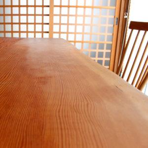 杉の厚板テーブル